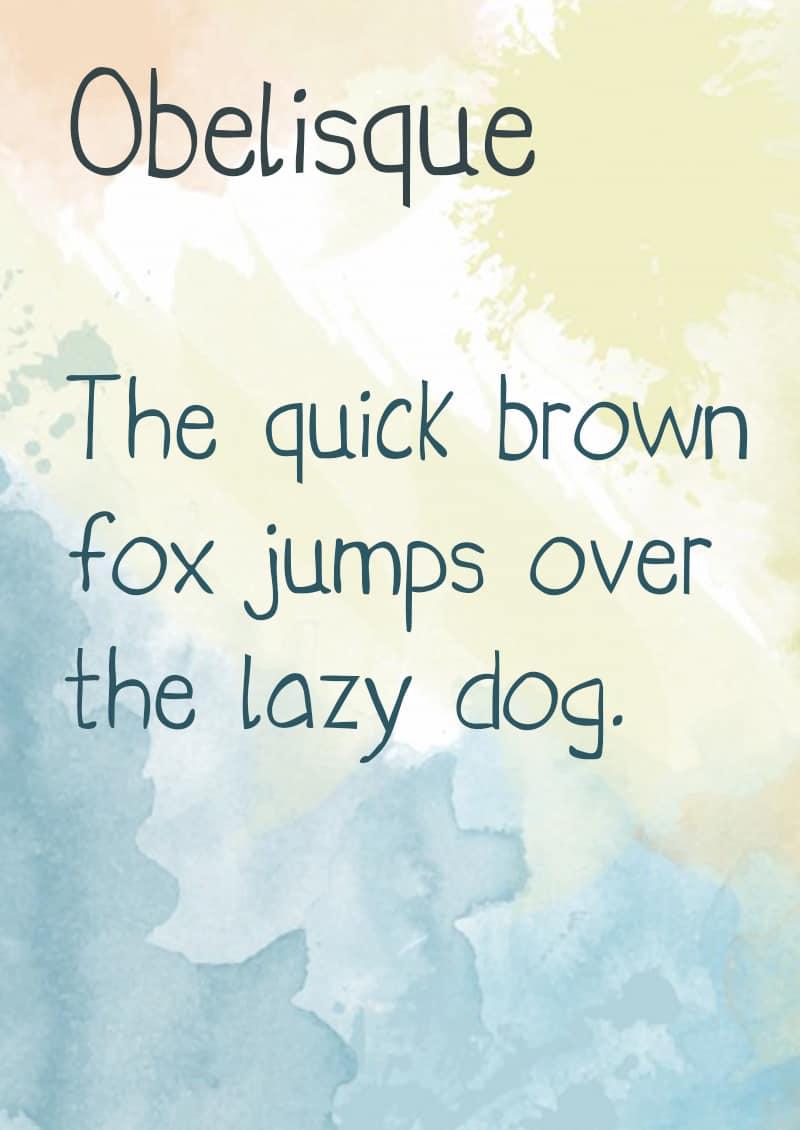 Download Obelisque font (typeface)