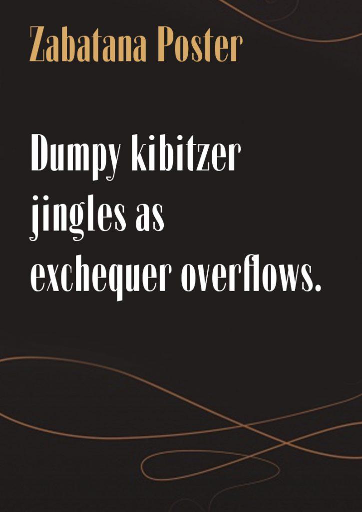Download Zabatana-Poster font (typeface)