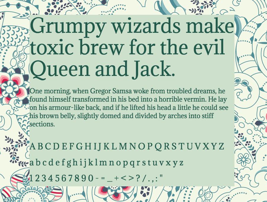 Download Adamina font (typeface)
