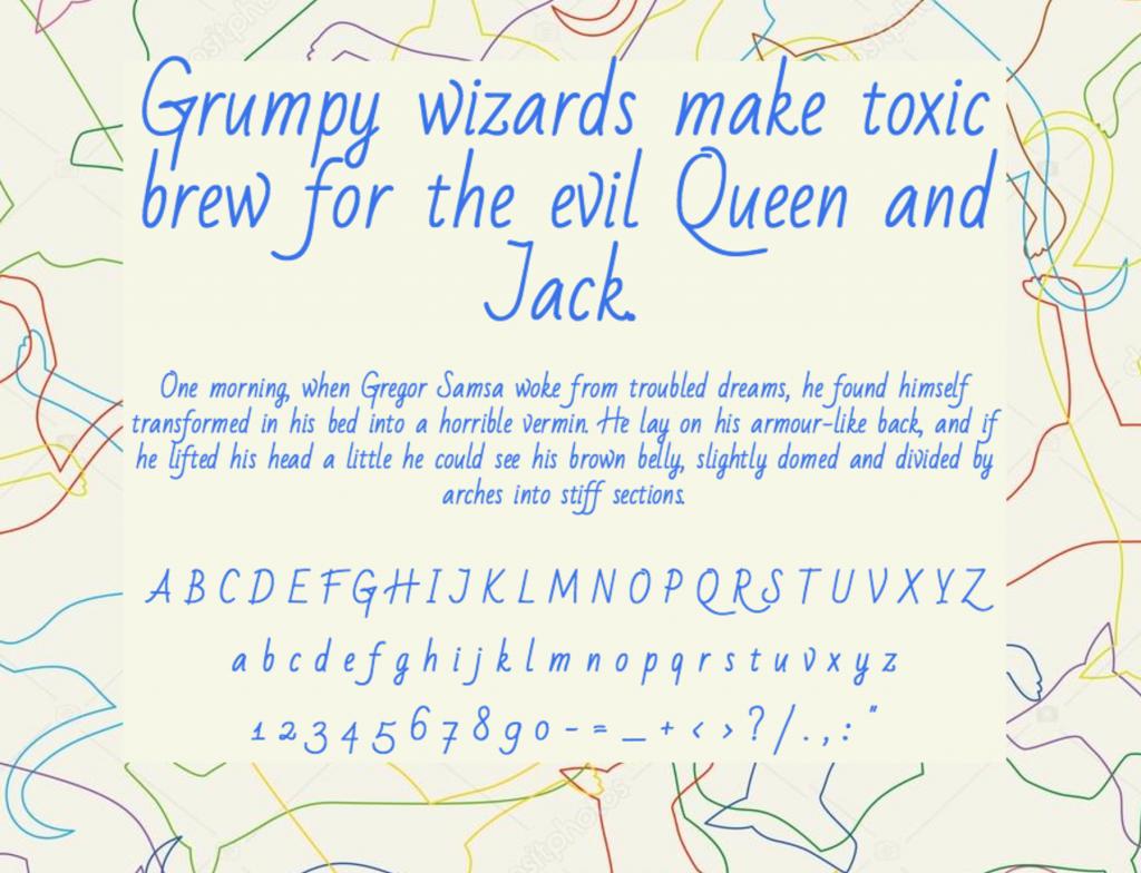 Download Bad Script Rus font (typeface)