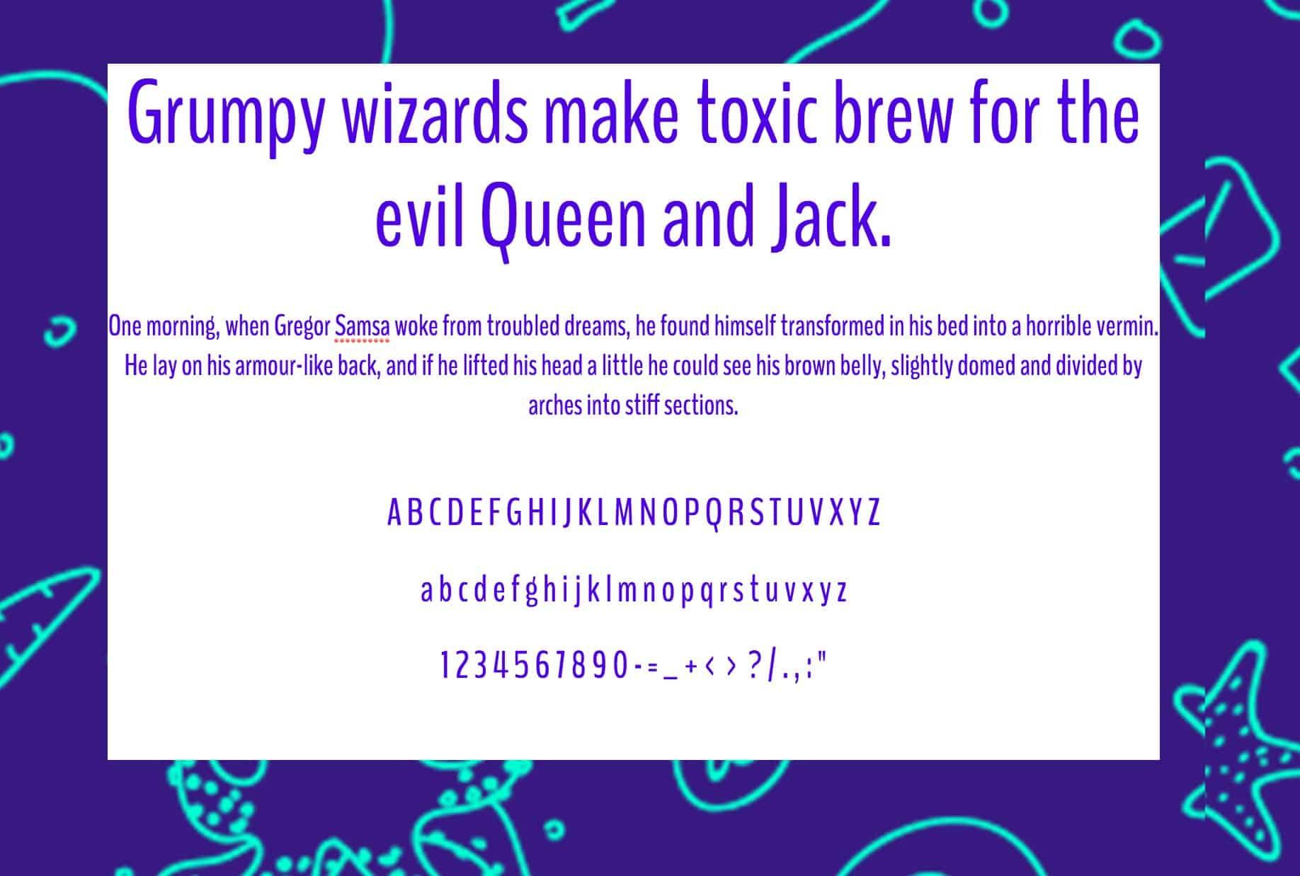 Download BenchNine font (typeface)