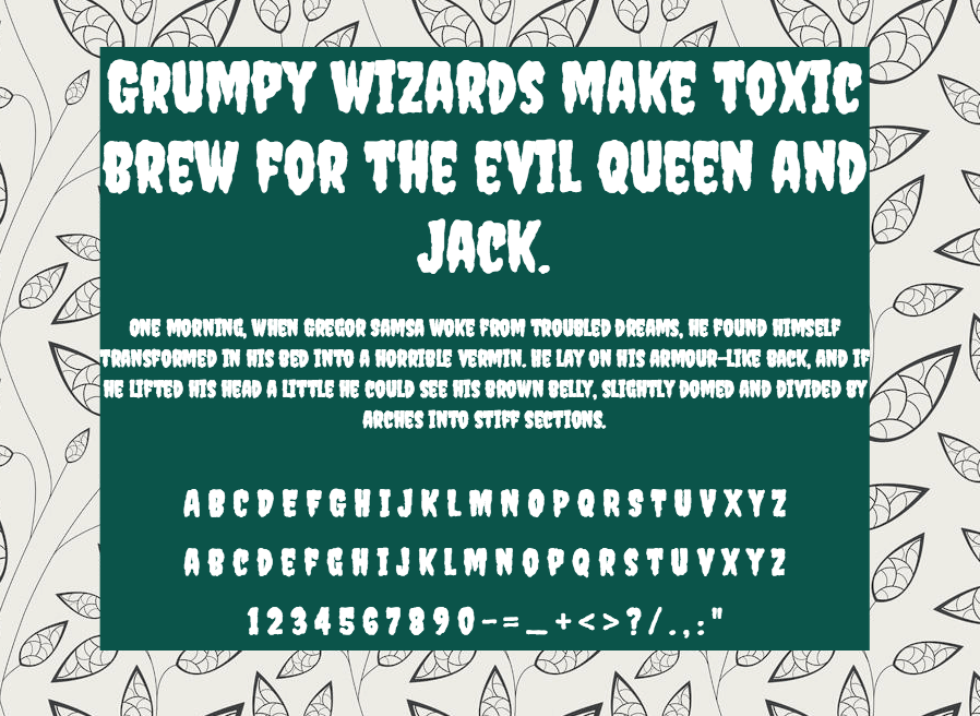 Download Creepster font (typeface)