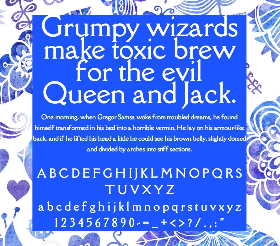 Download Della Respira font (typeface)