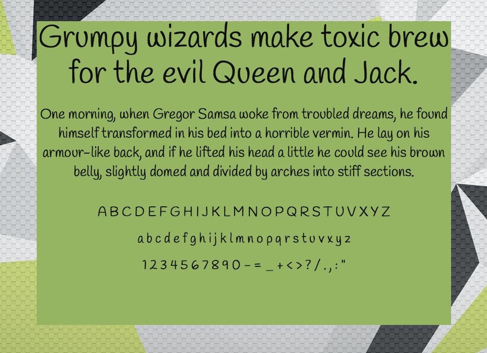 Download Handlee font (typeface)