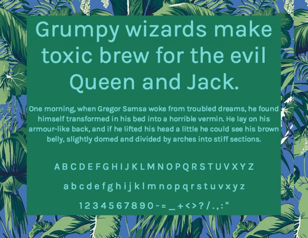 Download Karla font (typeface)
