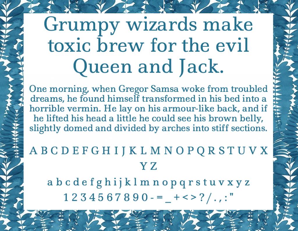 Download Ledger font (typeface)