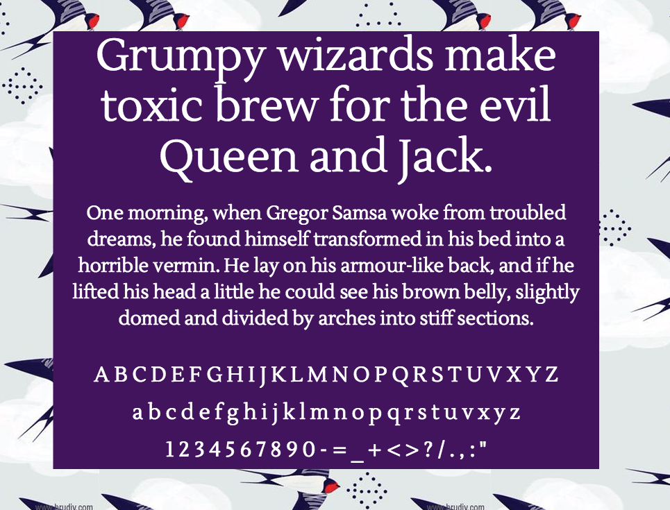 Download Lustria font (typeface)
