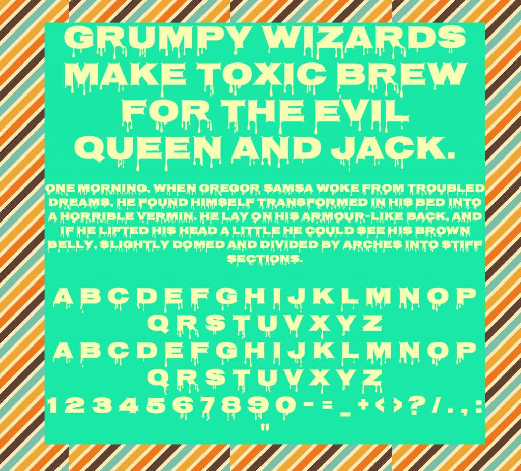 Download Nosifer font (typeface)