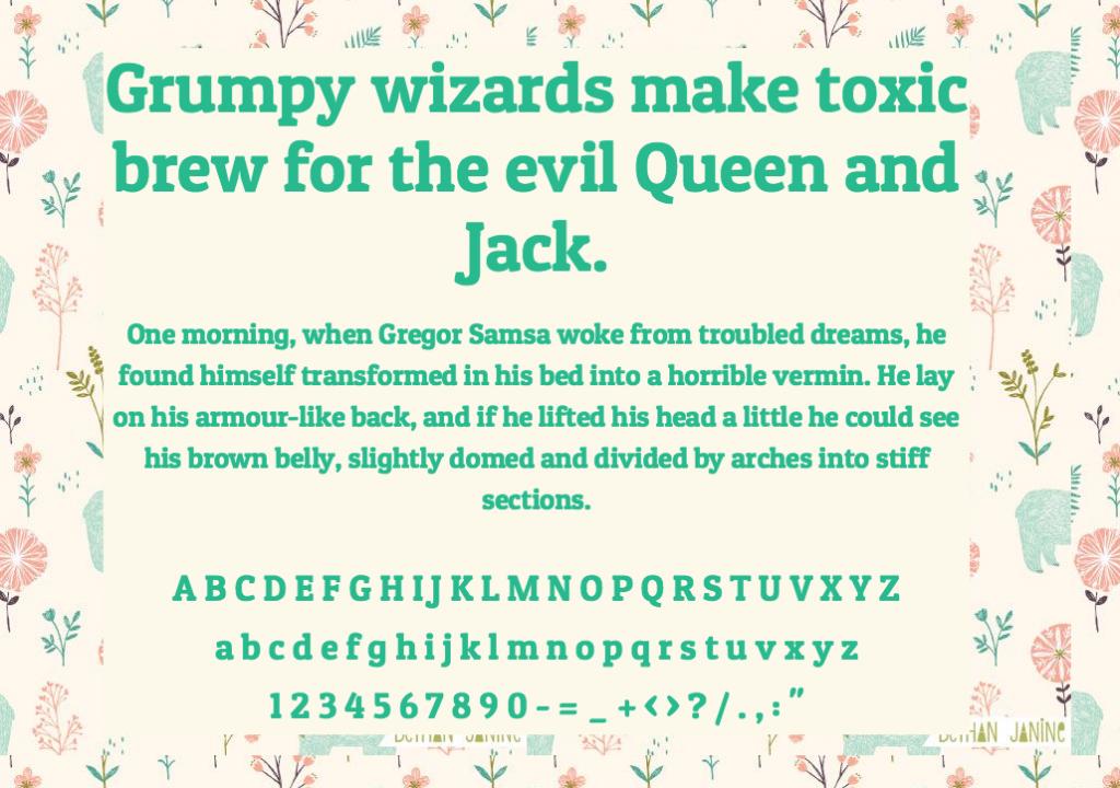 Download Patua One font (typeface)