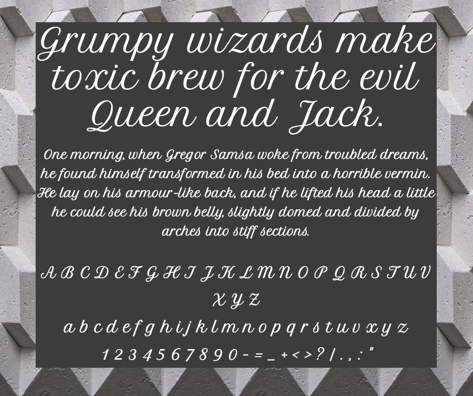 Download Petit Formal Script font (typeface)