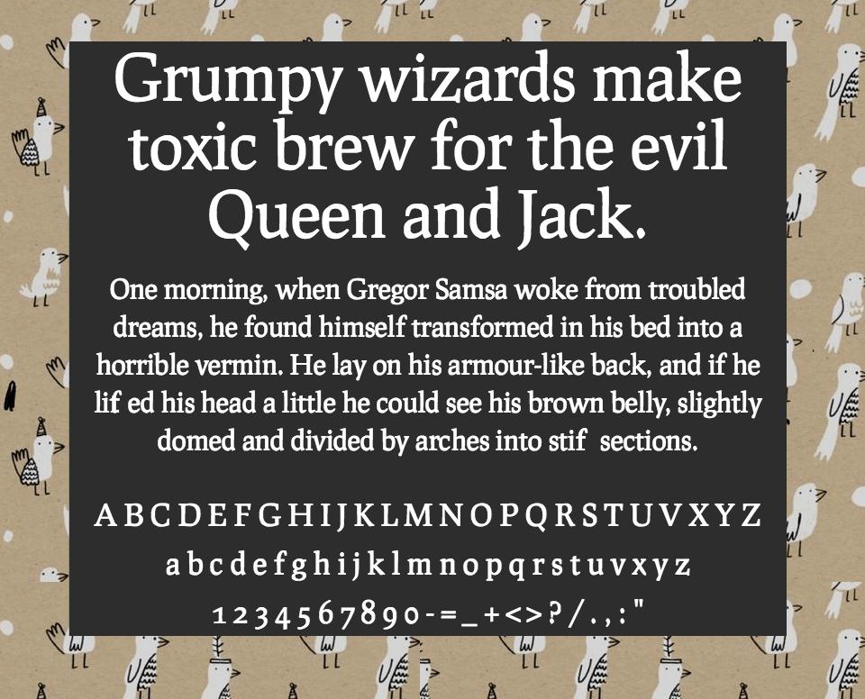 Download Prociono font (typeface)