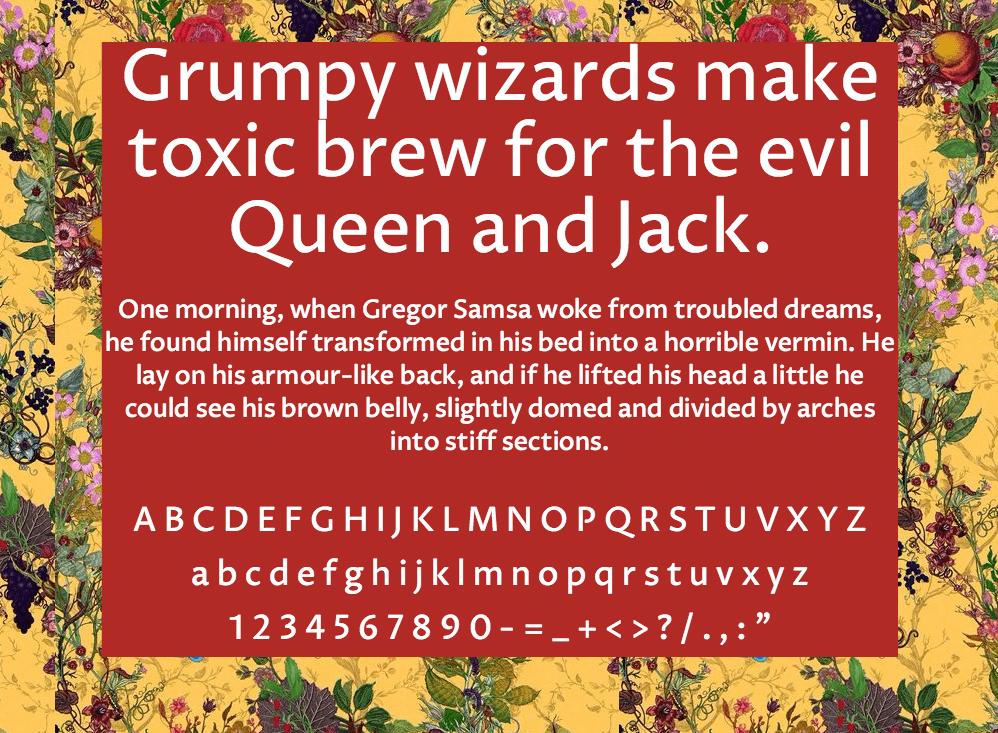 Download Proza Libre font (typeface)