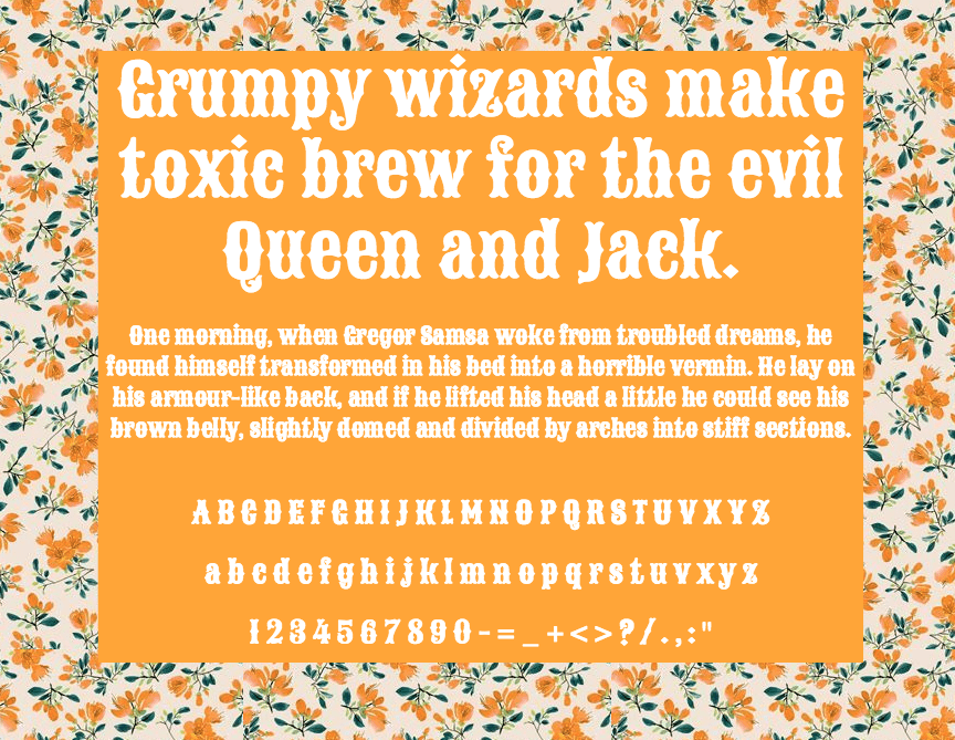 Download Sancreek font (typeface)