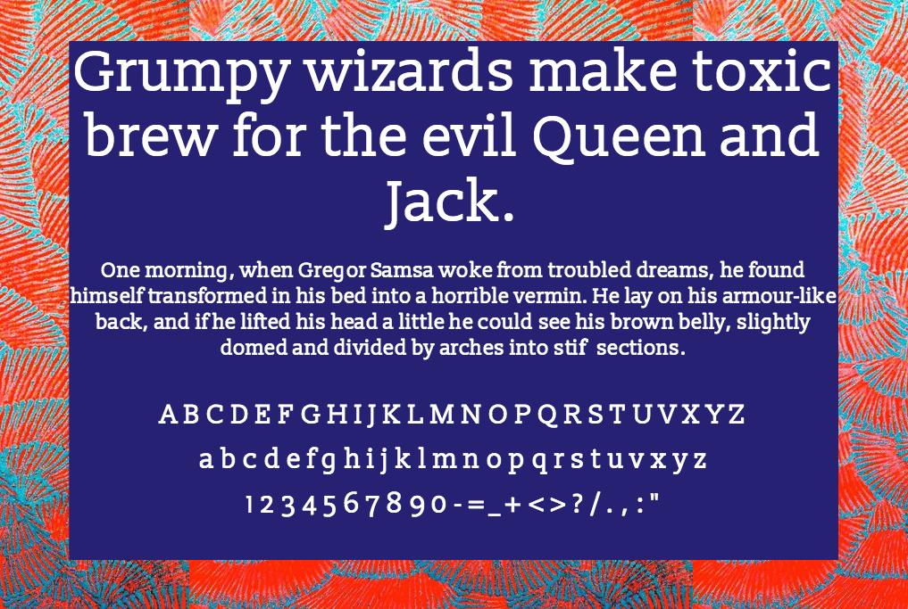 Download Slabo font (typeface)