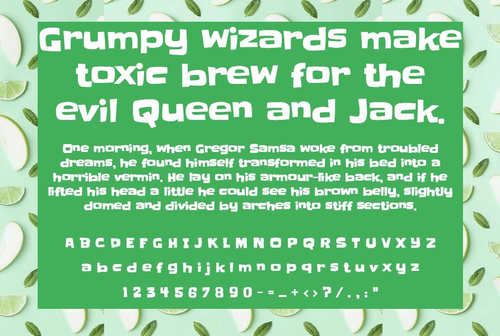 Download Slackey font (typeface)