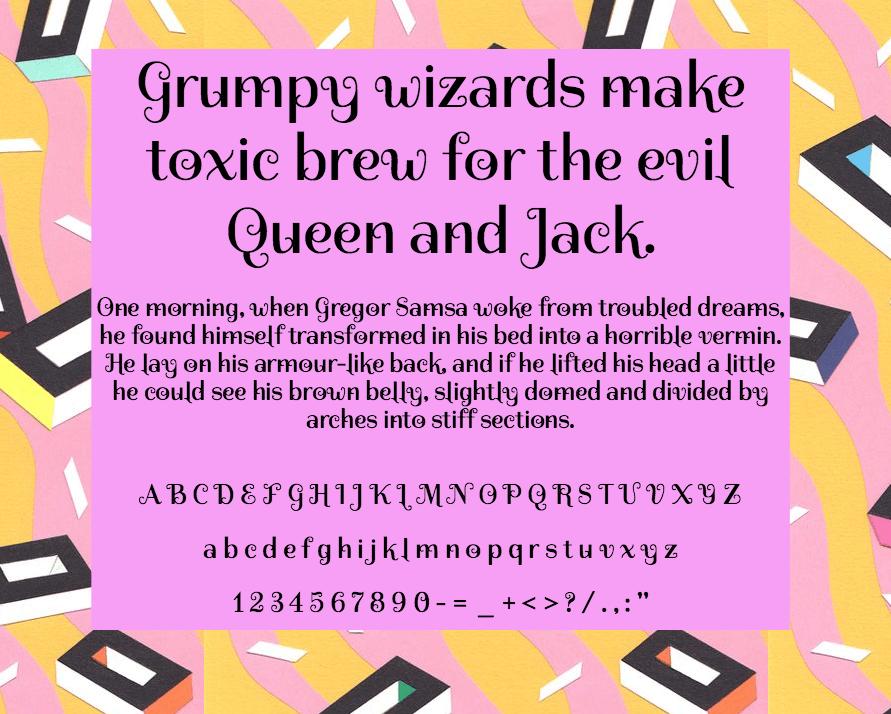 Download Spirax font (typeface)