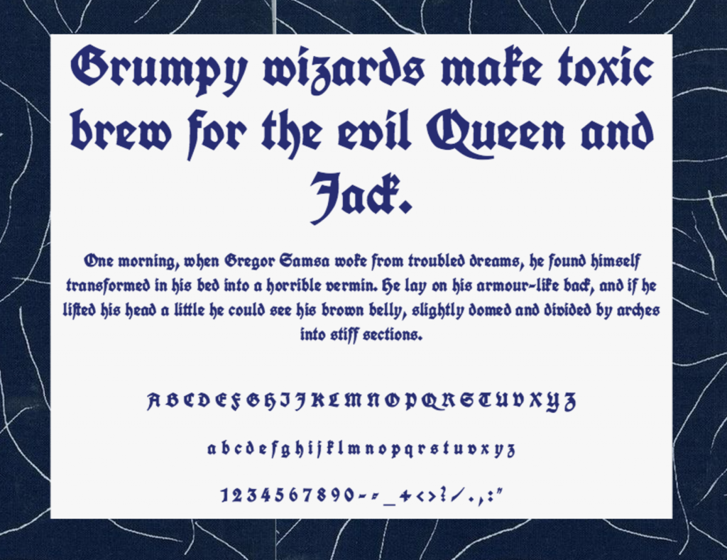 Download Unifraktur font (typeface)
