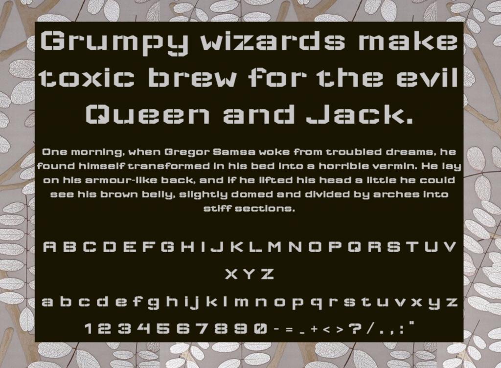 Download Wallpoet font (typeface)