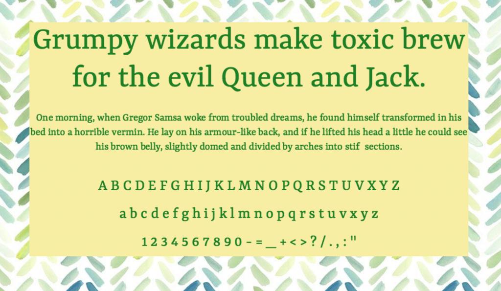 Download Yrsa font (typeface)