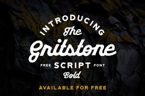 Download Gritstone Script font (typeface)
