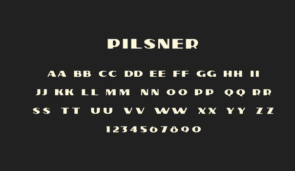 Download Pilsner font (typeface)
