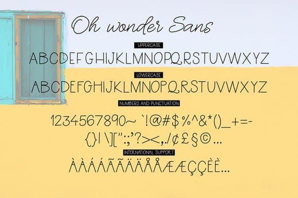 Download Oh Wonder Bonus Logos font (typeface)