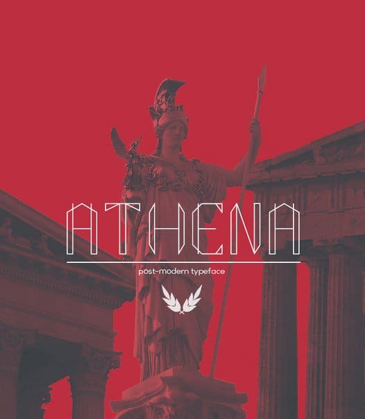 Download Athena regular font (typeface)