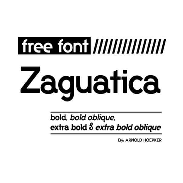 Download zaguatica font (typeface)
