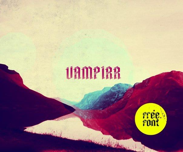 Download Vampirr font (typeface)
