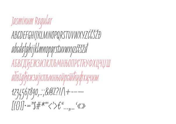 Download Jasminum font (typeface)