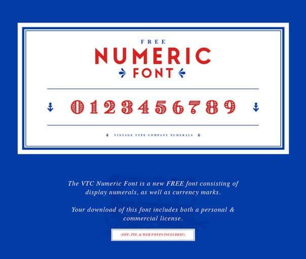 Download VTC Numerals [DesktopWeb] font (typeface)