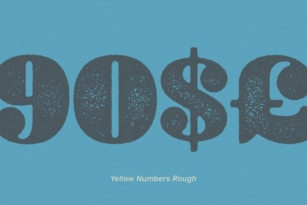 Download Yellow Numbers font (typeface)