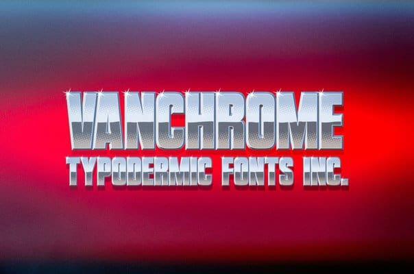 Download vanchrome font (typeface)