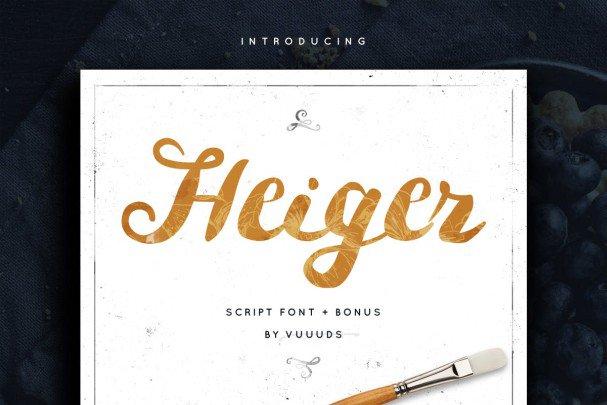 Download Heiger font (typeface)