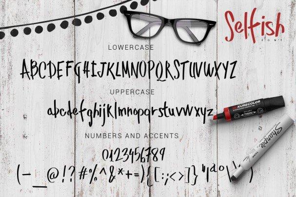 Download Selfish font (typeface)