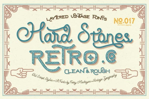 Download Hard Stones Family font (typeface)