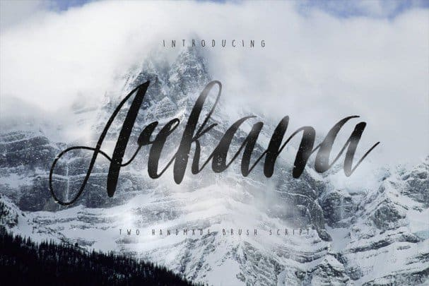 Download Arkana Script Typeface font (typeface)