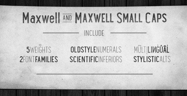 Download Maxwell Sans Bold font (typeface)