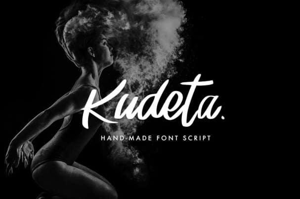 Download Kudeta - Handmade Script font (typeface)