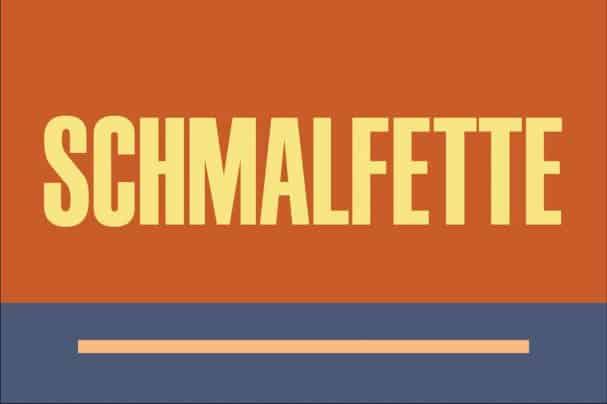 Download Schmalfette font (typeface)