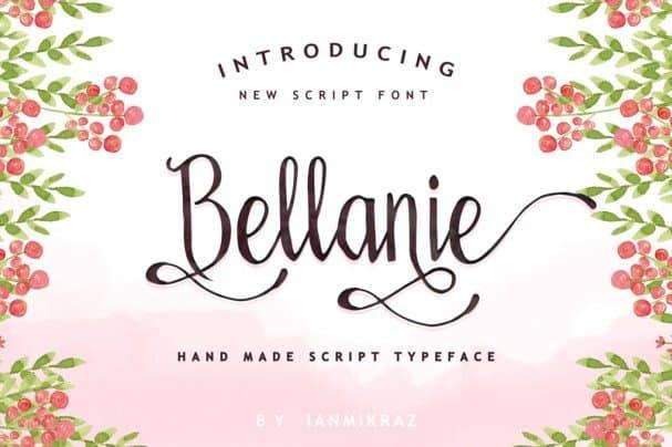 Download Bellanie Script font (typeface)