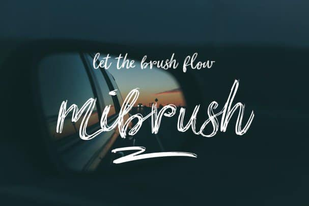 Download Mibrush font (typeface)