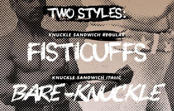 Download Knuckle Sandwich font (typeface)