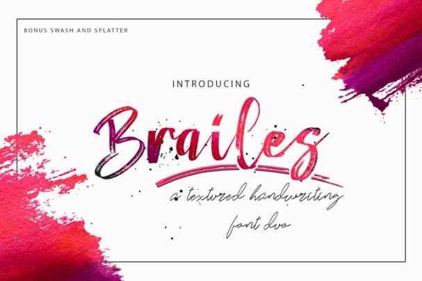 Download Brailes Duo + Swash and Splatter font (typeface)