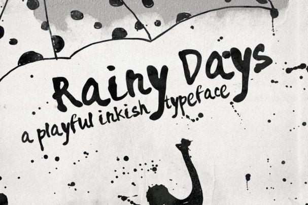 Download Rainy Days - a Playful typeface font (typeface)