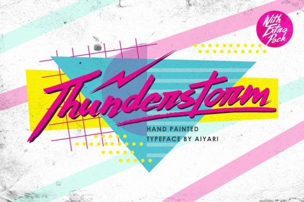 Download Thunderstorm font (typeface)