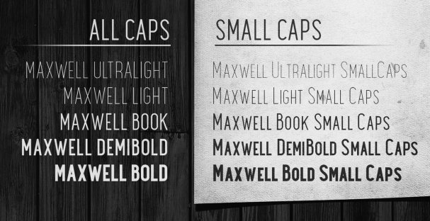 Download Maxwell Sans Small Caps Bold font (typeface)