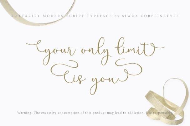 Download Rottarity Feminine font (typeface)