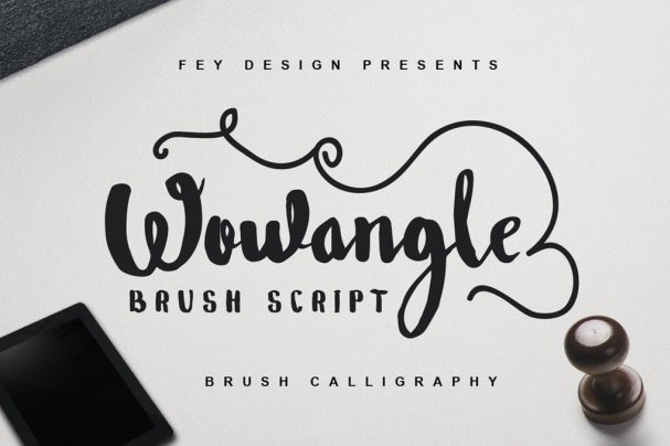 Download Wowangle - Brush font (typeface)