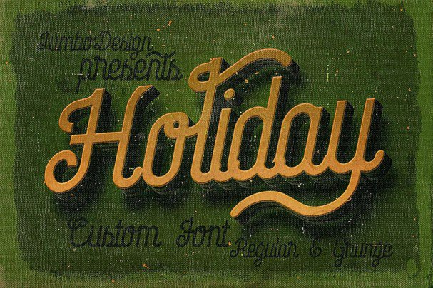 Download Holiday - Creative Script font (typeface)